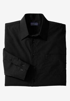 KS Signature No Hassle® Long-Sleeve Dress Shirt, BLACK