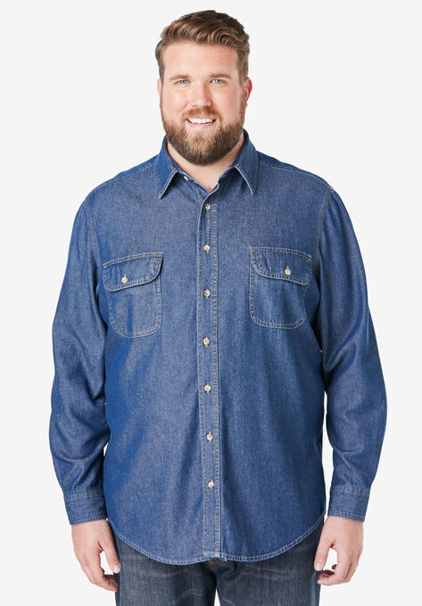 042e6e2f Boulder Creek® Long-Sleeve Button Down Shirt | Big and Tall Casual ...