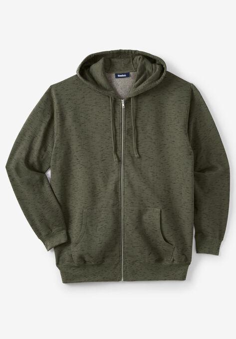 f203eed63 Fleece Zip-Front Hoodie| Big and Tall Hoodies & Sweatshirts | King Size