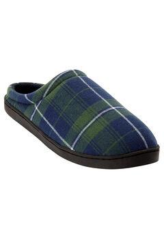Fleece Clog Slippers, BALSAM PLAID