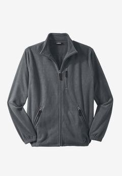 KingSize Men/'s Big /& Tall Quarter Zip-Front Wicking Fleece Jacket