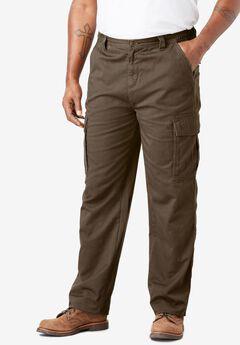 Boulder Creek® Side-Elastic Waist Cargo Pants, BARK