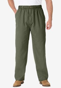 Knockarounds® Full-Elastic Waist Pants in Twill or Denim, OLIVE