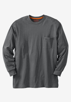 Heavyweight Long-Sleeve Pocket Crewneck Tee by Boulder Creek®,