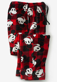 Micro-Fleece Holiday Pajama Pants, MICKEY HOLIDAY PLAID
