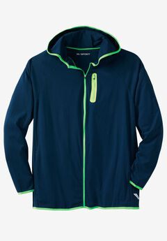 Comfort Cool Moisture Wicking Jacket by KS Sport™, MIDNIGHT NAVY