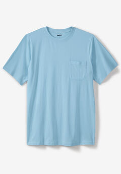 Pima Short-Sleeve Pocket Crewneck T-Shirt,