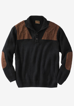 Mock Neck Shooter Sweater by Boulder Creek®,