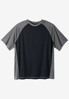 Raglan Sleeve Swim Shirt, BLACK STEEL