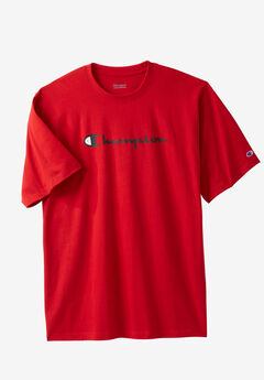 Script Logo Tee by Champion®, RED