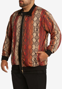 MVP Collections® Animal Print Bomber Jacket,