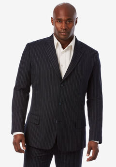 KS Signature Easy Movement® Three-Button Jacket, NAVY PINSTRIPE