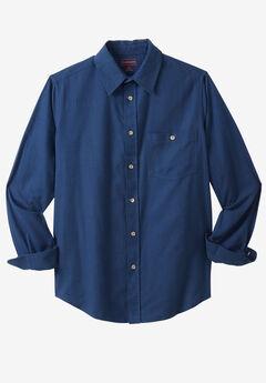 Solid Flannel Shirt by Boulder Creek®, BLUE INDIGO