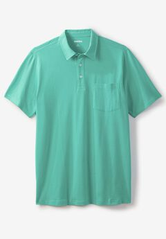 Lightweight Polo T-Shirt, TIDAL GREEN