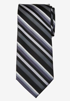 Classic Stripe Tie, STEEL MULTI STRIPE