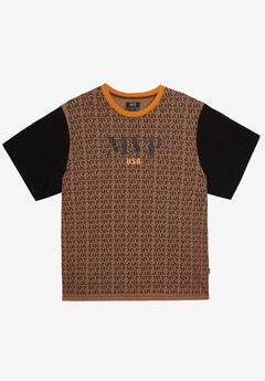 MVP Collections® All-Over Print Logo Tee,