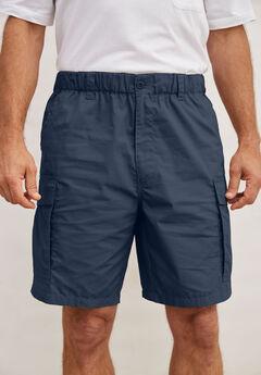 "8"" Moisture Wicking Cargo Shorts,"