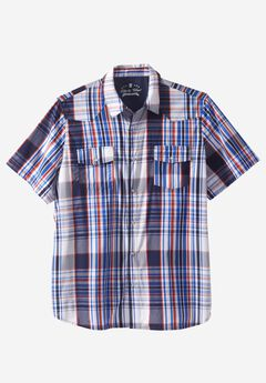 Summer Snap-Button Shirt by Liberty Blues®,