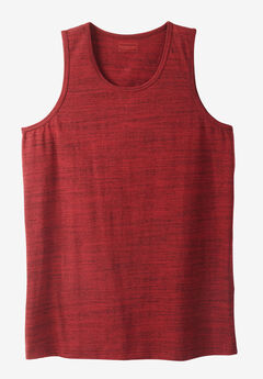 Heavyweight Cotton Tank, RICH BURGUNDY MARL