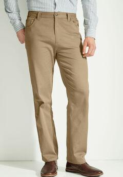 Liberty Blues® Relaxed Fit 5-Pocket Stretch Jeans, KHAKI