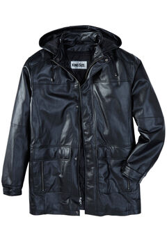 Hooded Leather Parka,