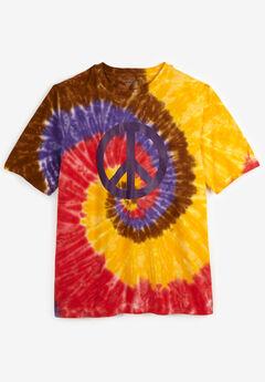 Tie-Dye Graphic Tee, PEACE TIE DYE