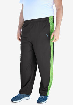 KS Sport™ Charger Series Sweatpants, BLACK ELECTRIC GREEN