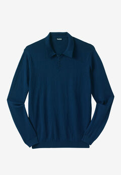 Polo Sweater, NAVY