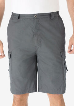 "10"" Cargo Shorts, STEEL"