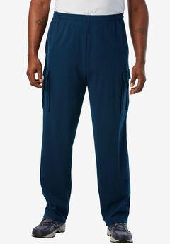 Lightweight Cargo Sweatpants, NAVY