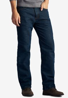Lee® Fleece-Lined Relaxed-Fit Straight-Leg Jeans,