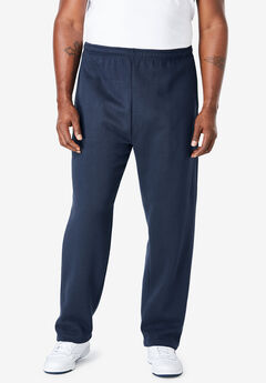 Fleece Open-Bottom Sweatpants,