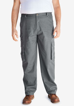 Boulder Creek® Side-Elastic Stacked Cargo Pocket Pants, STEEL