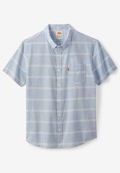 Levi's® Striped Short-Sleeve Button-Down Shirt , PARISIAN BLUE