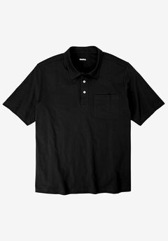 Lightweight Polo T-Shirt, BLACK