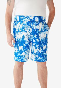 KS Island™ Printed Swim Trunks, ROYAL BLUE MARBLE