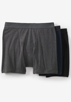 Cotton Mid-Length Briefs 3-Pack, ASSORTED BASIC
