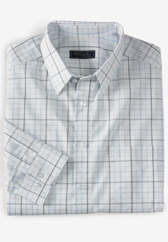Modern Fit Long-Sleeve Broadcloth Flex Dress Shirt by KS Signature,