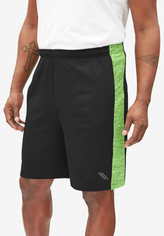 Sport Series Shorts by KS Sport™, BLACK ELECTRIC GREEN