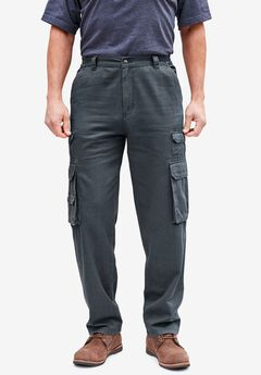 Boulder Creek® Side-Elastic Cargo Pants, CARBON