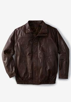 Leather Bomber Jacket,