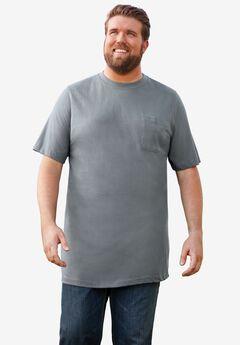 KingSize Mens Big /& Tall Dry-Tech Long-Sleeve Crewneck Tee