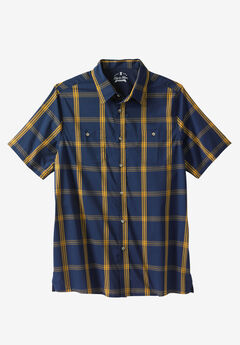 The Patriot Collection Stretch Short-Sleeve Sport Shirt by Liberty Blues®,