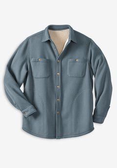 Boulder Creek® Waffle-Knit Jacket, DARK SLATE