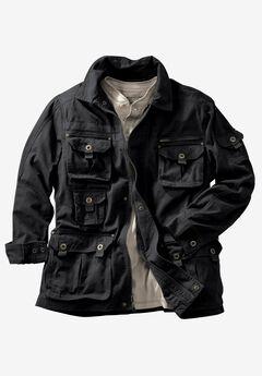 Boulder Creek® Multi-Pocket Twill Jacket, BLACK