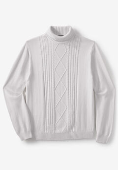 Liberty Blues® Shoreman's Cable Knit Turtleneck Sweater,