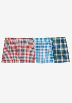 Assorted 3-Pack Boxers, FASHION PLAID