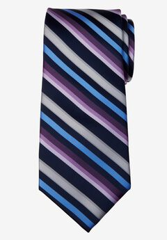 Classic Stripe Tie, PURPLE MULTI STRIPE