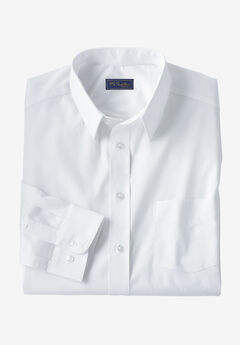 Classic Fit Broadcloth Flex Long-Sleeve Dress Shirt by KS Signature, WHITE