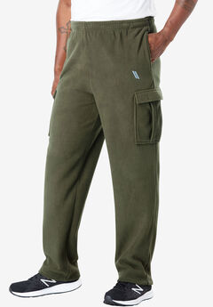 KS Sport™ Wicking Fleece Cargo Sweatpants,